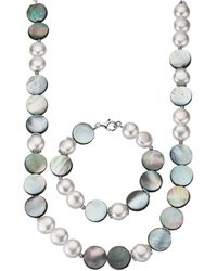diemer perle 2-delige Sieradenset - Metallic