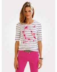 BARBARA LEBEK Shirt Wit::oranje::pink - Roze