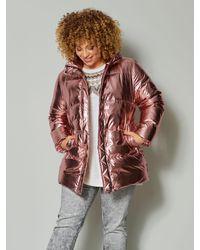 Angel of Style Gewatteerde Jas - Rood