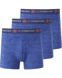Jan Vanderstorm 3er Pack Retropant NORIK - Blau