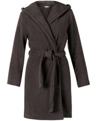 Move Officine Del Cappello Homewear Kapuzenmantel , 100% Baumwolle , Made in Germany Möve - Schwarz