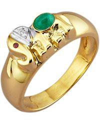 Diemer Farbstein Ring Olifant - Metallic