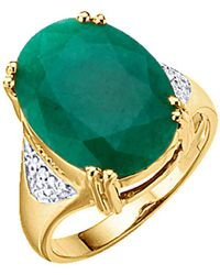 KLiNGEL Damenring mit Smaragd Grün