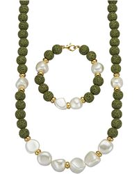 Diemer Farbstein 2-delige Sieradenset - Groen
