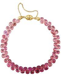 Diemer Farbstein Armband - Roze