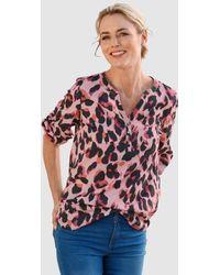 Dress In Blouse - Roze