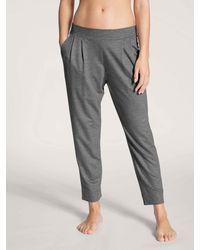 CALIDA - 7/8-Sweatpants urban grey melé - Lyst