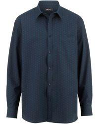 Men Plus Overhemd - Blauw