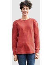 Dress In Sweatshirt - Rood