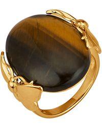 KLiNGEL Ring Vlinder - Bruin