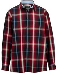 Men Plus Overhemd - Rood