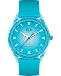 Ice-watch Armbanduhr Solar Blue Planet M Türkis Türkis - Blau