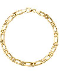 Diemer Gold Figaro-armband - Metallic