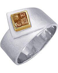 KLiNGEL Damenring mit Rohdiamant - Mettallic