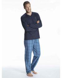 Jockey Pyjama mit Webhose - Blau