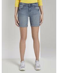 Tom Tailor Alexa Slim Bermuda Jeans-Shorts - Blau