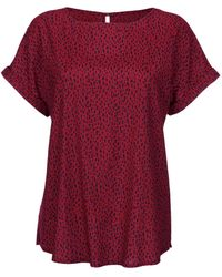 Dress In Blouse - Rood