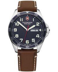 Victorinox Herren-Armbanduhr Fieldforce - Blau
