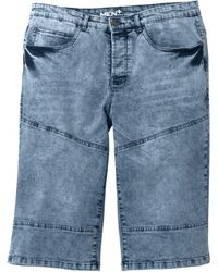 Men Plus Jeansbermuda - Blauw