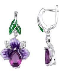 Amy Vermont Oorbellen Orchidee - Paars