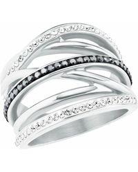 S.oliver Ring für Damen aus Edelstahl - Grau