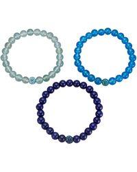 KLiNGEL 3tlg. Armband-Set - Blau