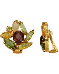 Golden Style Oorclips - Geel
