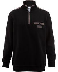 Men Plus Sweatshirt - Zwart