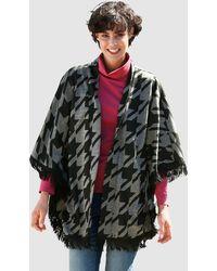 Dress In Gebreide Cape - Zwart