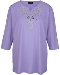 m. collection Shirt - Paars