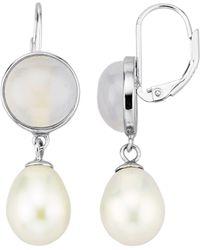 diemer perle Oorbellen - Wit