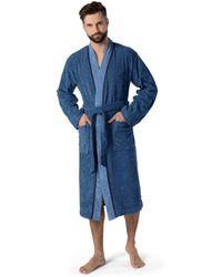 Move Officine Del Cappello Kimono , 40% Baumwolle/ 60% Polyester , Modisch Möve - Blau