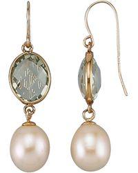 diemer perle Oorhangers Met Cultivé Zoetwaterparels - Metallic
