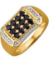 KLiNGEL Herenring Met Zwarte Diamanten