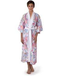 Move Officine Del Cappello St. Tropez Kimono , 44% Viskose, 38% Polyester, 18% Baumwolle , Modisch Möve - Rot