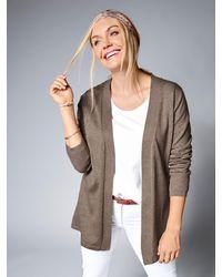 Janet & Joyce Basic Vest In Open Model - Bruin