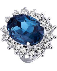 Golden Style Damesring - Blauw