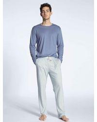 CALIDA Pyjama lang - Blau