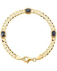 KLiNGEL Armband Met Saffieren - Blauw