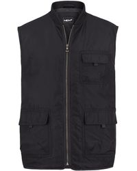 Men Plus Bodywarmer - Zwart