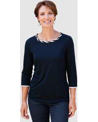 Paola - Shirt Marineblau::Weiß - Lyst