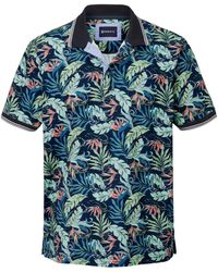 Babista Poloshirt Marine::groen::zalm - Blauw
