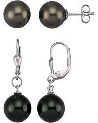 KLiNGEL Set Van 2 Paar Oorbellen - Zwart