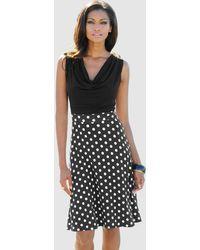 Alba Moda Strandkleid schwarz/weiß