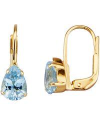 KLiNGEL Ohrringe mit Aquamarinen - Blau