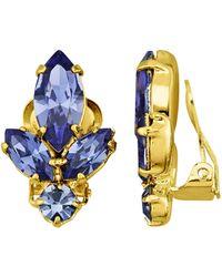 Golden Style Oorclips - Blauw