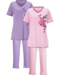 Harmony Pyjama's Per 2 Stuks - Paars