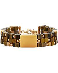 Diemer Farbstein Armband Van Tijgeroog - Bruin