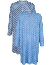 Roger Kent Nachthemden Per 2 Stuks - Blauw