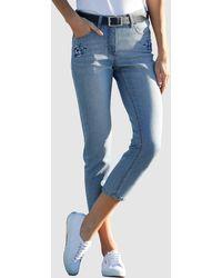 Dress In 3/4-jeans - Blauw